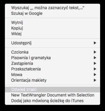 """""""Odwieszanie"""" można także włączyć za pomocą skrótu Cmd+Shift+O"""