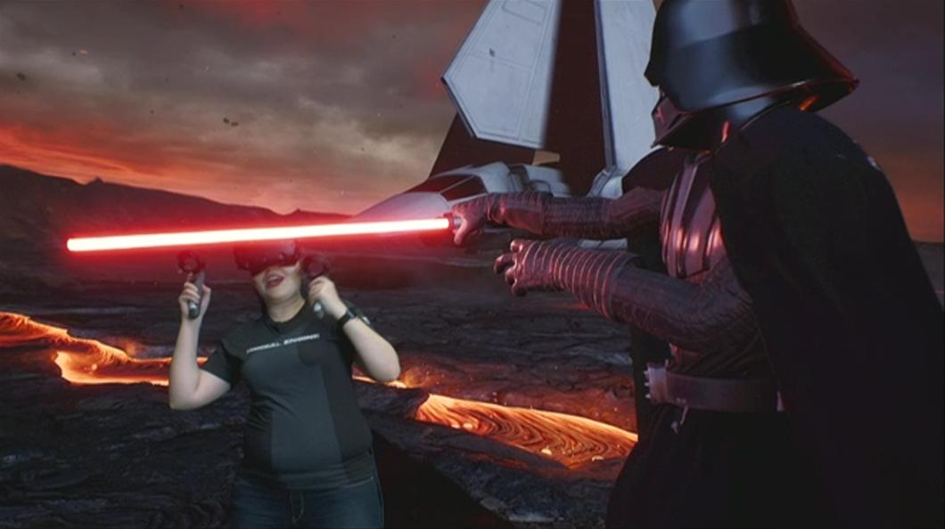 Lord Vader atakuje panią Lauren Ridge